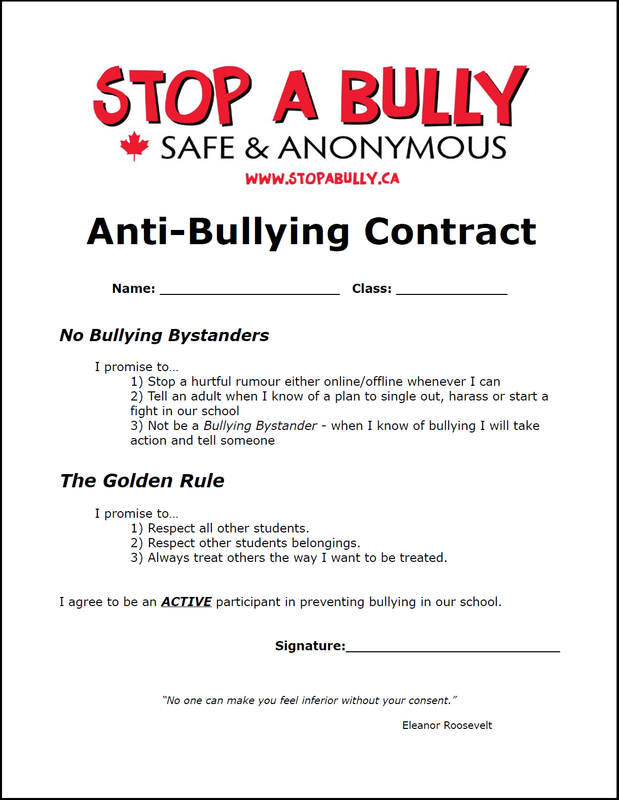 Printables Bullying Worksheets Middle School stop a bully teacher resources anti bullying lesson plans contract
